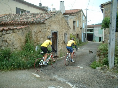 Houseguests going off for a day's cycling