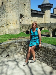 Madame Thomson; The `tour-guide`,  The Citadel, Carcassonne.